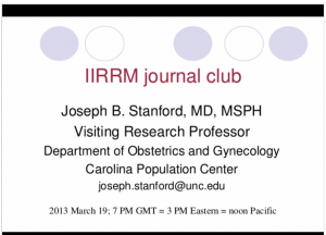 Journal Club:  Types of ovarian activity in women and their significance: the continuum (a reinterpretation of early findings)