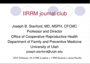 Journal Club: Effect of caloric intake on insulin resistance in PCOS