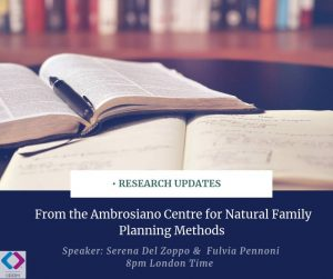 Research Updates in RRM from the Ambrosiano Centre for Natural Family Planning Methods